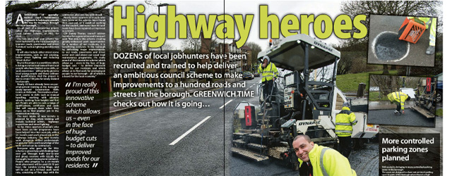 This week's Greenwich Time. The smiling chap in hi-viz is cabinet member Sizwe James.