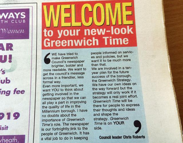 Greenwich Time, 2002