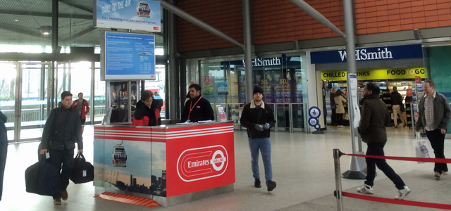 North Greenwich station, 22 March 2015