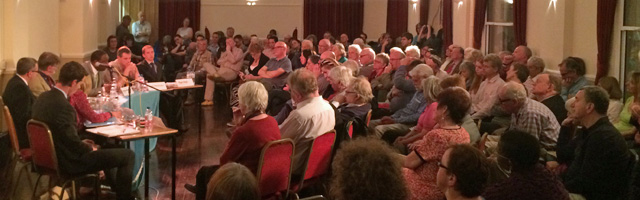 All six candidates appeared at the Blackheath & Greenwich United Nations Associations hustings at Mycenae House earlier this month