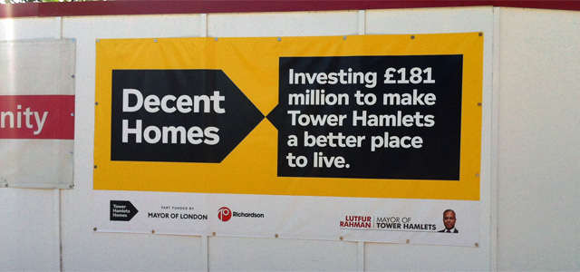 Tower Hamlets Council hoarding