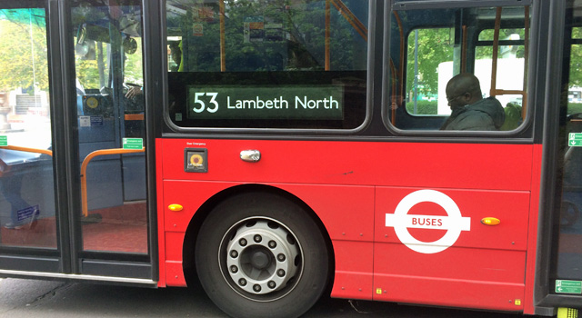 A 53 to Lambeth North
