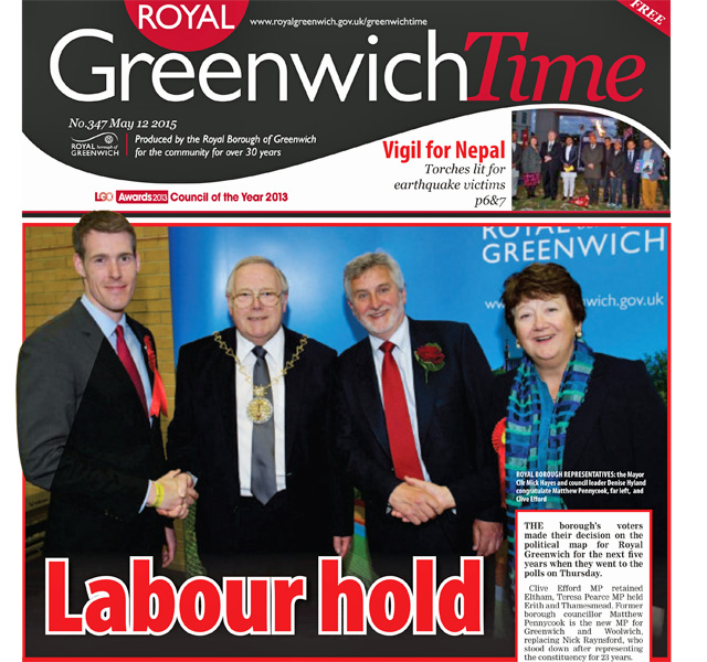 Fair and balanced: Greenwich Time celebrates Labour's success
