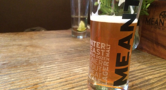 A lovely pint of Meantime wheat beer