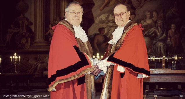 Mick Hayes and Norman Adams, a councillor since 1978