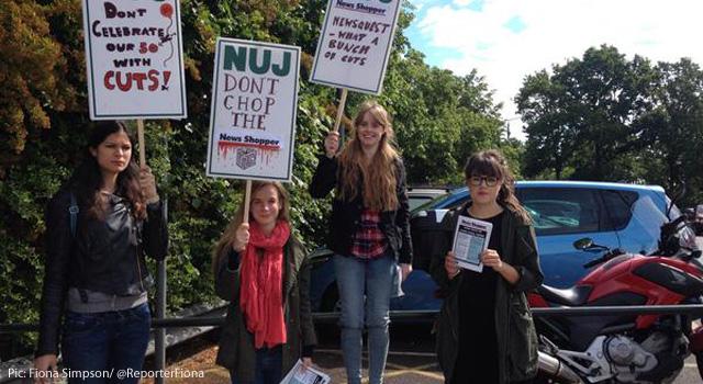 News Shopper reporters on strike