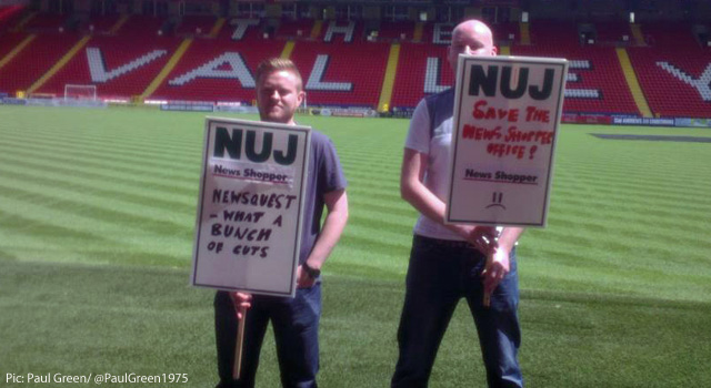 News Shopper strikers at The Valley