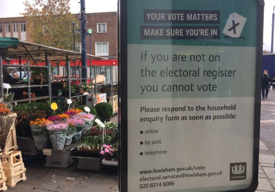 Lewisham Council is trying to get people to sign up to the register