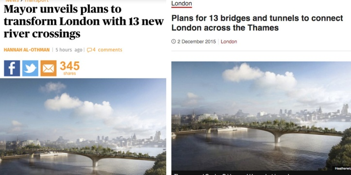Evening Standard and BBC London websites