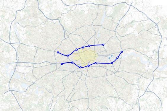 TfL map of new roads