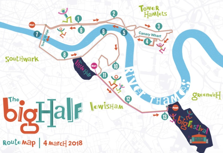 The Big Half route