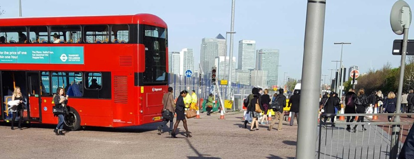 Greenwich busway, 5 April 2017