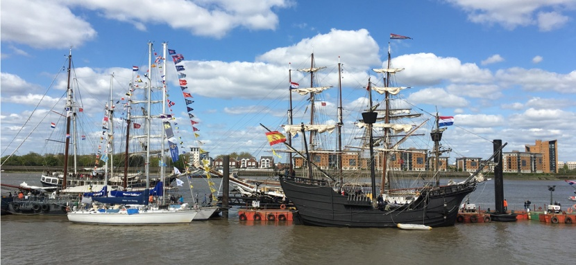 Tall ships in Woolwich, 15 April 2017
