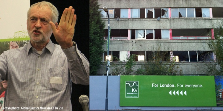 Jeremy Corbyn and the Ferrier Estate in 2011