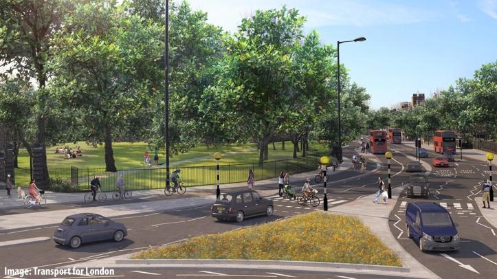 TfL visualisation of Rotherhithe roundabout