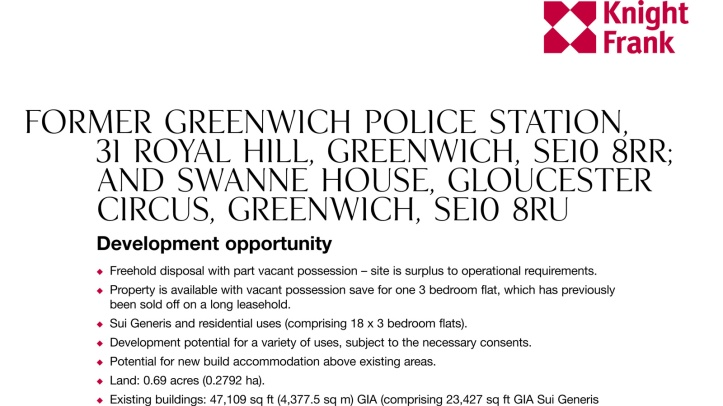 Greenwich police station sale documents
