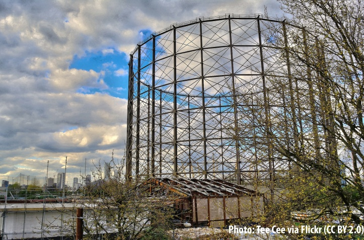 East Greenwich gas holder
