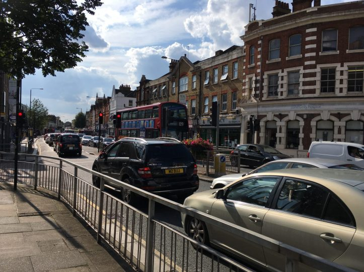 Trafalgar Road traffic jam