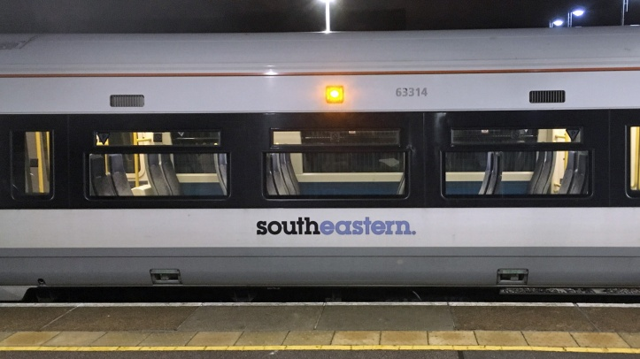 Southeastern train at Charlton station