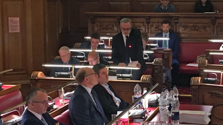 Greenwich Council chamber, 13 December 2017