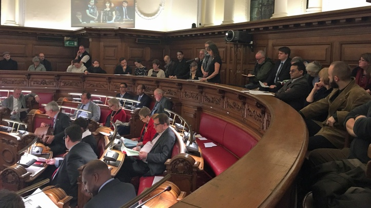 Woolwich Town Hall - council meeting