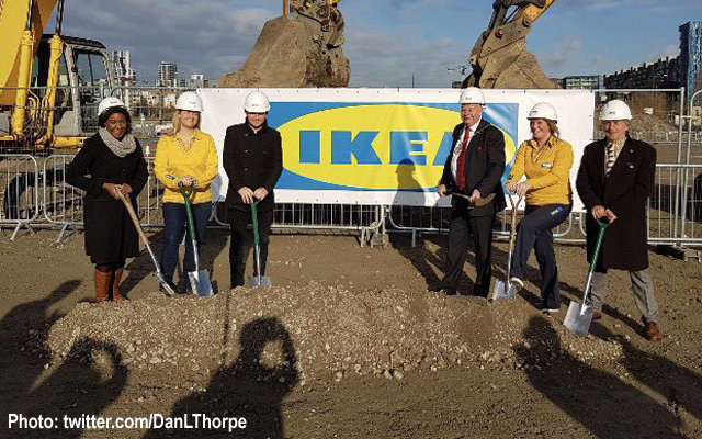 Stephen Brain at Ikea ceremony