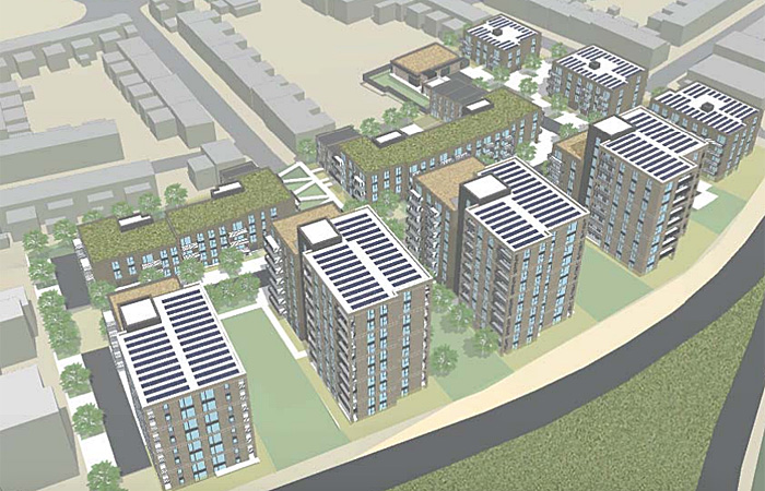The proposed development at Victoria Way, Charlton