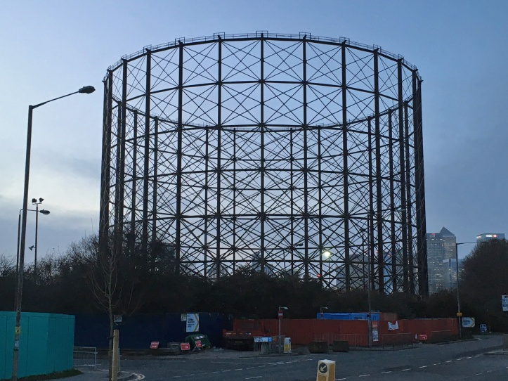 East Greenwich gasholder