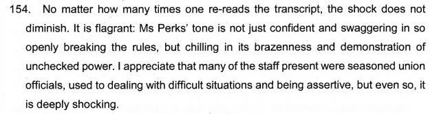 Linda Perks ruling