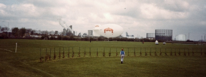 Metrogas sports ground, c.1984 - yes, that is the site editor in the photo