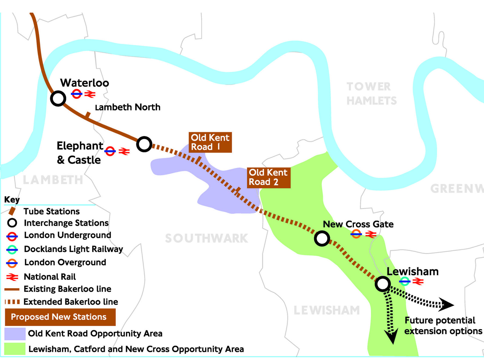 Greenwich Council plots to hijack Lewisham's Bakerloo Line extension