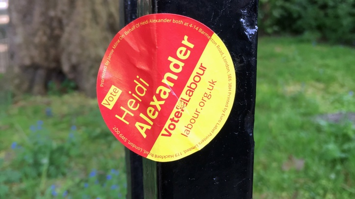 Labour sticker
