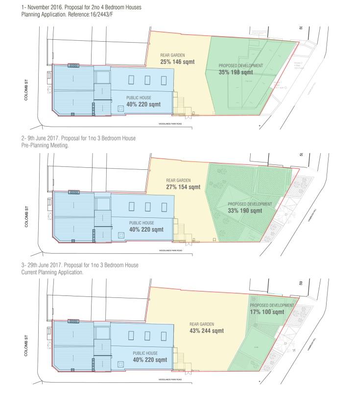 Vanburgh beer garden plan