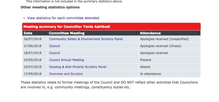 Tonia Ashikodi councillor profile