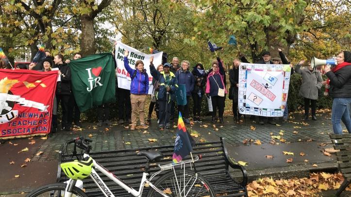 John Roan protesters