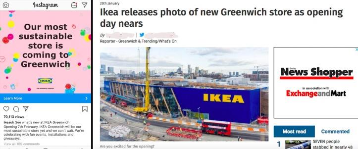 Ikea Instagram and sloppy Shopper coverage