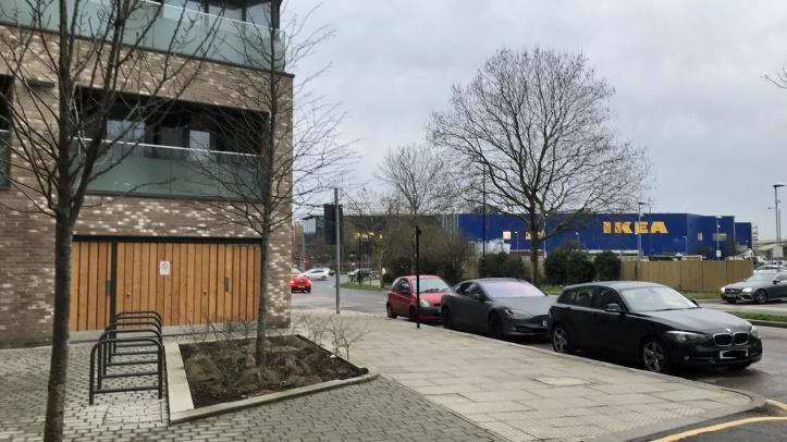 Ikea as seen from Greenwich Millennium Village